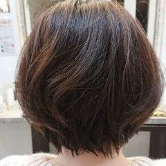 gleamshairdesign ショートボブ ショートヘア ナチュラル ヘアスタイルや髪型の写真・画像