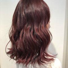 ピンク ガーリー ベリーピンク ピンクブラウン ヘアスタイルや髪型の写真・画像