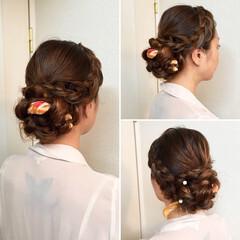ヘアアクセ 上品 アップスタイル ヘアアレンジ ヘアスタイルや髪型の写真・画像