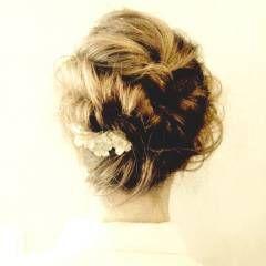 フェミニン ヘアアレンジ ストリート クラシカル ヘアスタイルや髪型の写真・画像