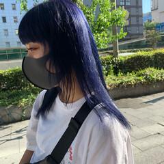 モード ハイトーンカラー ブルーラベンダー ブリーチ ヘアスタイルや髪型の写真・画像
