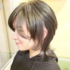 ウルフカット ウルフレイヤー アディクシーカラー モード ヘアスタイルや髪型の写真・画像