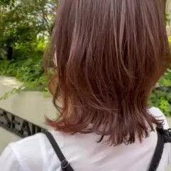 インナーカラー ナチュラル ナチュラル可愛い ミディアム ヘアスタイルや髪型の写真・画像