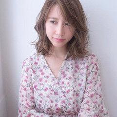 ミディアム 美髪 セクシー 透明感 ヘアスタイルや髪型の写真・画像