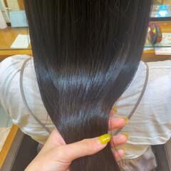 黒髪 髪質改善トリートメント ロング ナチュラル ヘアスタイルや髪型の写真・画像