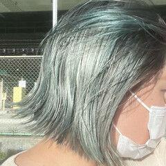 ミニボブ ショートボブ ボブ 透明感カラー ヘアスタイルや髪型の写真・画像