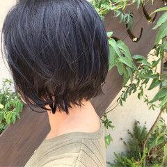 ナチュラル セピアカラー まとまるボブ 毛先パーマ ヘアスタイルや髪型の写真・画像