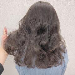透明感カラー ロング イルミナカラー ブリーチなし ヘアスタイルや髪型の写真・画像