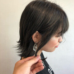 ナチュラル 巻き髪 ボブ なんちゃって黒染め ヘアスタイルや髪型の写真・画像