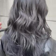 ブリーチなし アッシュグレー ラベンダーグレージュ アッシュグレージュ ヘアスタイルや髪型の写真・画像
