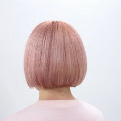 ボブ カラートリートメント ブリーチ ハイトーン ヘアスタイルや髪型の写真・画像