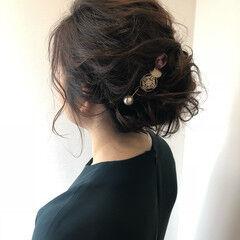 サファリベージュ フェミニン 透明感 結婚式 ヘアスタイルや髪型の写真・画像