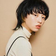 マッシュウルフ マッシュMIX ショート インナーカラー ヘアスタイルや髪型の写真・画像