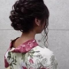 フェミニン ヘアセット アップ ヘアアレンジ ヘアスタイルや髪型の写真・画像