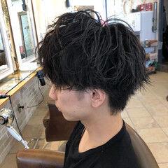 メンズ メンズヘア メンズパーマ ショート ヘアスタイルや髪型の写真・画像