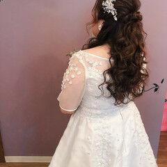 結婚式 ブライダル ねじり ヘアセット ヘアスタイルや髪型の写真・画像