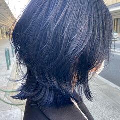 マッシュウルフ ナチュラル ニュアンスウルフ グレージュ ヘアスタイルや髪型の写真・画像