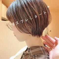 モテ髪 ショートボブ ショート ナチュラル ヘアスタイルや髪型の写真・画像
