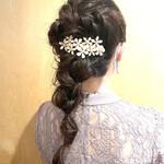 簡単ヘアアレンジ 編み込みヘア 結婚式ヘアアレンジ 編み込み