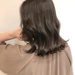 巻き髪 オルチャン セミロング 暗髪
