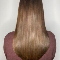 トリートメント ナチュラル 髪質改善トリートメント ロング ヘアスタイルや髪型の写真・画像