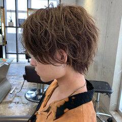 メンズヘア 前下がり ハンサムショート 前下がりヘア ヘアスタイルや髪型の写真・画像