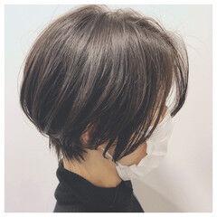 コンサバ くびれボブ ショート ショートヘア ヘアスタイルや髪型の写真・画像