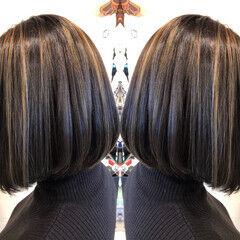 ストリート 透け感ヘア 透け感アッシュ モテボブ ヘアスタイルや髪型の写真・画像