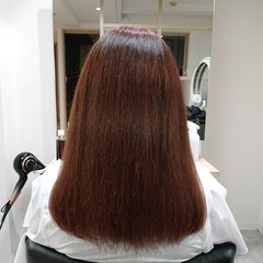 髪質改善 髪質改善トリートメント 艶髪 ヘアカラー ヘアスタイルや髪型の写真・画像