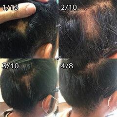 ショート 薄毛改善 頭皮ケア ナチュラル ヘアスタイルや髪型の写真・画像