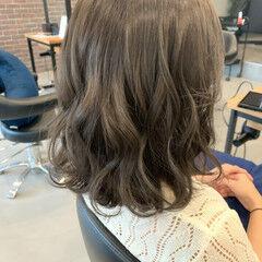 透明感カラー ブリーチ無し グレー ガーリー ヘアスタイルや髪型の写真・画像