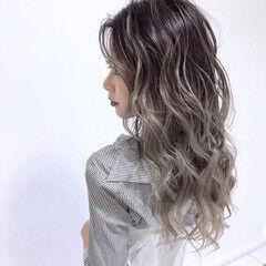 ブリーチカラー 外国人風カラー バレイヤージュ ロング ヘアスタイルや髪型の写真・画像