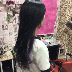 インナーカラー グレージュ 外国人風カラー エレガント ヘアスタイルや髪型の写真・画像