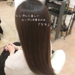ヘアケア トリートメント ツヤ髪 エレガント ヘアスタイルや髪型の写真・画像