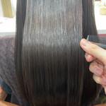 艶カラー 髪質改善トリートメント ロング 艶髪