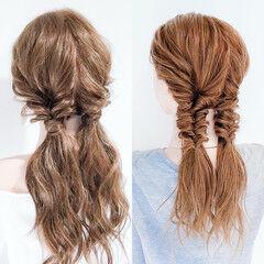 くるりんぱ ダウンスタイル ヘアアレンジ ヘアセット ヘアスタイルや髪型の写真・画像