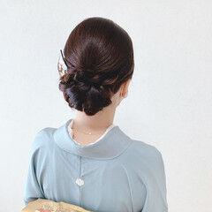ミディアム 和装ヘア 結婚式ヘアアレンジ エレガント ヘアスタイルや髪型の写真・画像