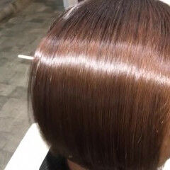 ナチュラル 髪質改善安達瞭 美髪 ボブ ヘアスタイルや髪型の写真・画像