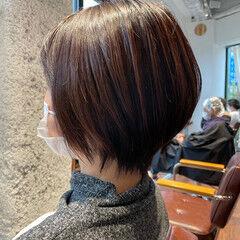 ショート 夏 40代 ショートヘア ヘアスタイルや髪型の写真・画像