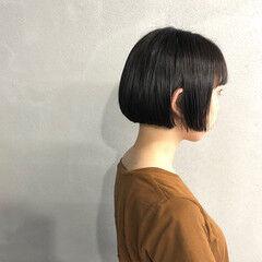 ナチュラル 簡単 似合わせ ボブ ヘアスタイルや髪型の写真・画像