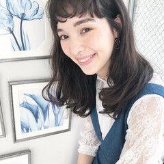 前髪 ナチュラル ロングヘア ロング ヘアスタイルや髪型の写真・画像