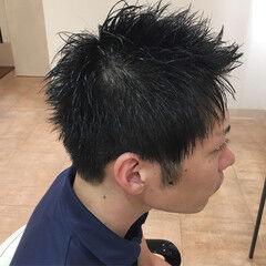 メンズカット シャギー メンズ ショート ヘアスタイルや髪型の写真・画像