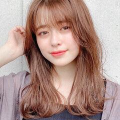 デジタルパーマ モテ髮シルエット ミディアム ナチュラル ヘアスタイルや髪型の写真・画像