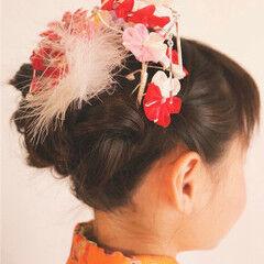 ミディアム ガーリー 子供 ヘアアレンジ ヘアスタイルや髪型の写真・画像