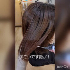 髪質改善 フェミニン ミニボブ 髪質改善トリートメント ヘアスタイルや髪型の写真・画像