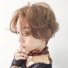 ショートボブ ショートヘア ナチュラル 白髪染め ヘアスタイルや髪型の写真・画像