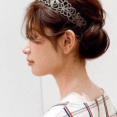 フェミニン セミロング ゆるふわ クラシカル ヘアスタイルや髪型の写真・画像