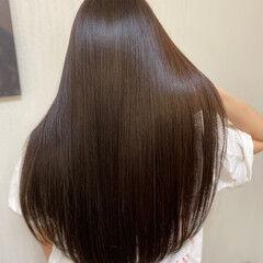 ナチュラル カラートリートメント 髪質改善トリートメント ロング ヘアスタイルや髪型の写真・画像