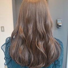 暗色カラー ナチュラル シアーベージュ 透明感カラー ヘアスタイルや髪型の写真・画像