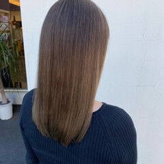 N.オイル ロング ナチュラルグラデーション アッシュベージュ ヘアスタイルや髪型の写真・画像